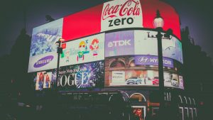 Advertising in Piccadilly Circus